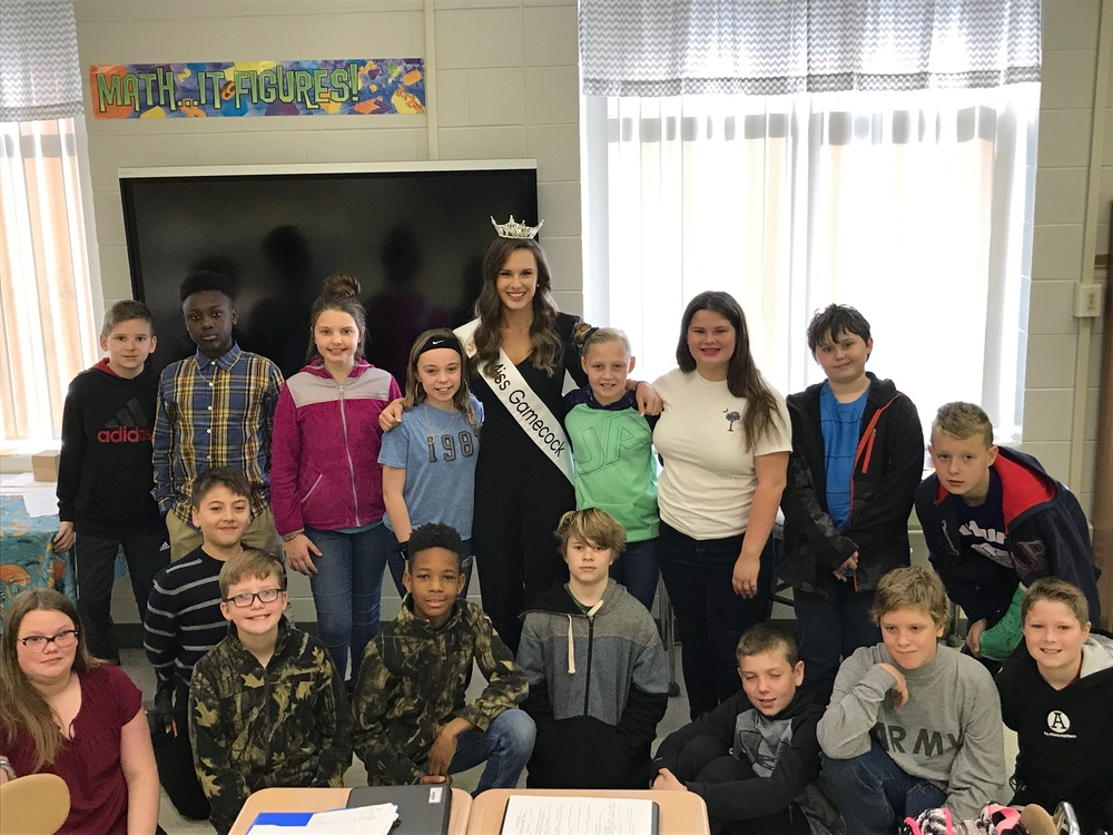 Miss Gamecock Visits CTE!