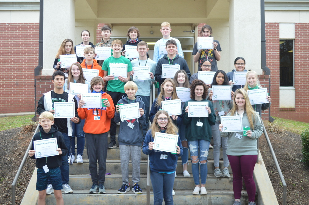 Students of the Quarter for the 2nd Nine Weeks