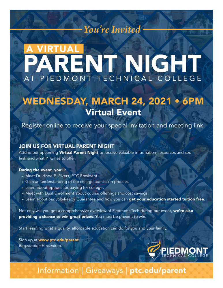 PTC Virtual Parent Night