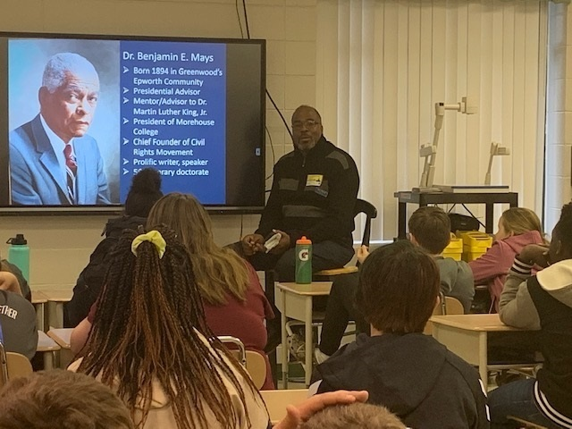 CTE Students Learn About the Life of Dr. Benjamin E. Mays