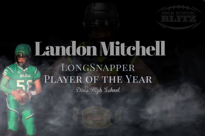 Landon Mitchell Named Long Snapper Player of Year
