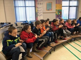 Fourth Grade Students Learn to Play Recorders