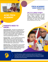 iTECH Parent Newsletter - Sept.
