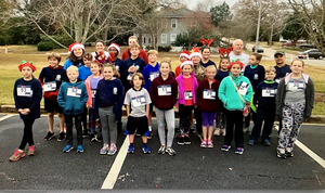 Rocky's Runners Participate in the Reindeer Run.