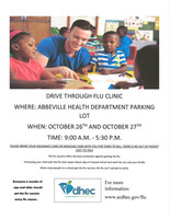 Drive Thru Flu Clinic October 26-27