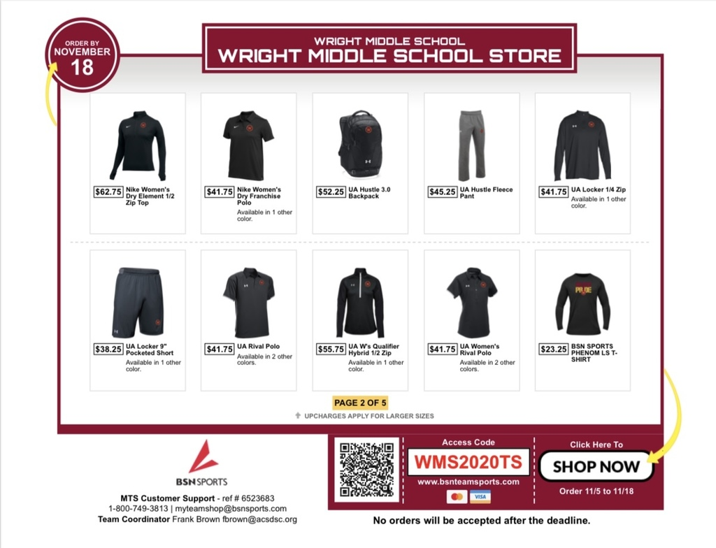 BSN Team Store Flyer Page 2