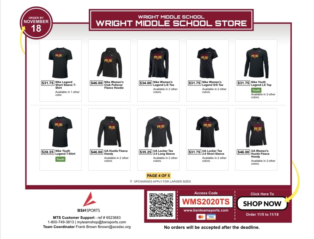 BSN Team Store Flyer Page 4