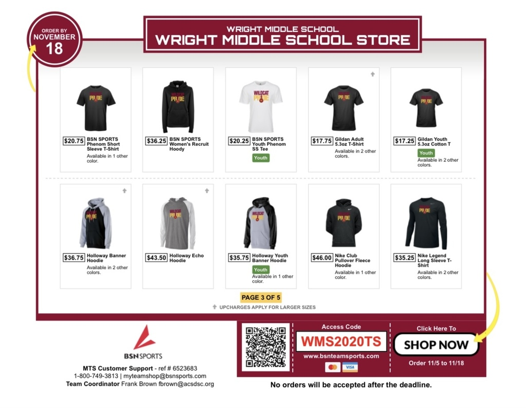 BSN Team Store Flyer Page 3