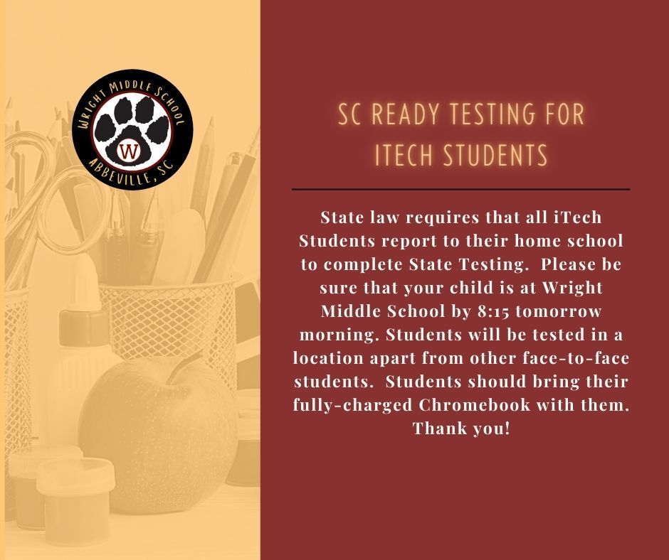 SC Ready Announcement for iTech