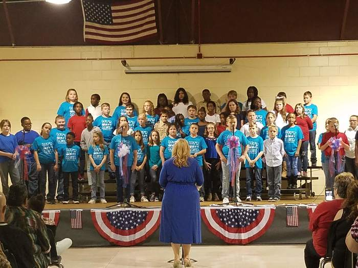 5th Grade Westwood Elementary Students Singing for Veterans Day