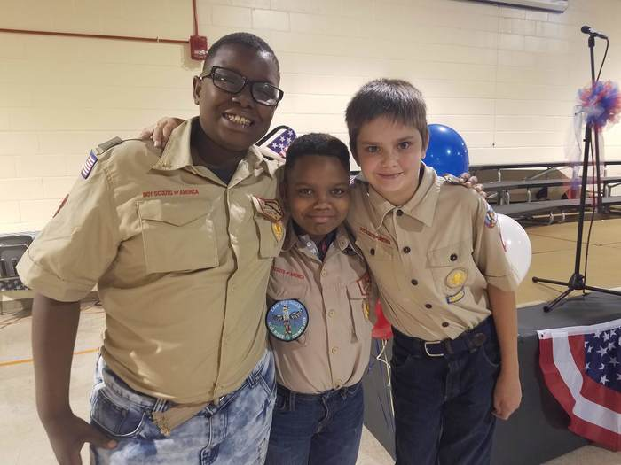 Westwood Elementary 5th Grade students / Boy Scouts - KeyMaury Belcher, Aaron Thomas, and Logan Haddon