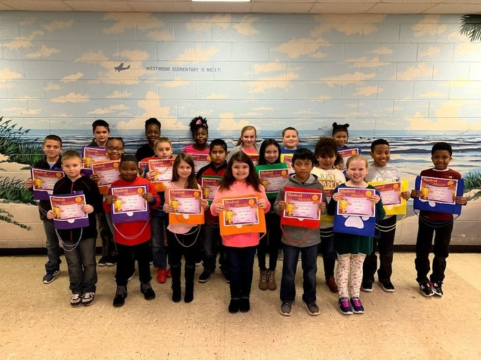 Westwood Elementary is proud to announce their Star Students for the month of January