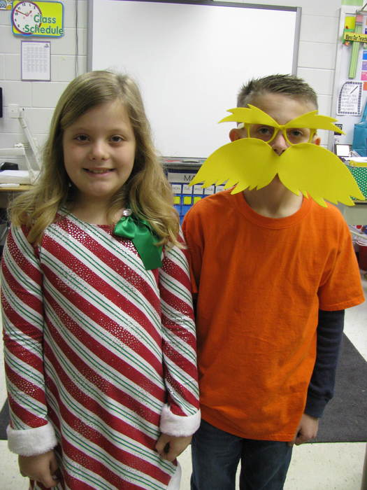 Second Graders Dressed Up For Seuss Yourself