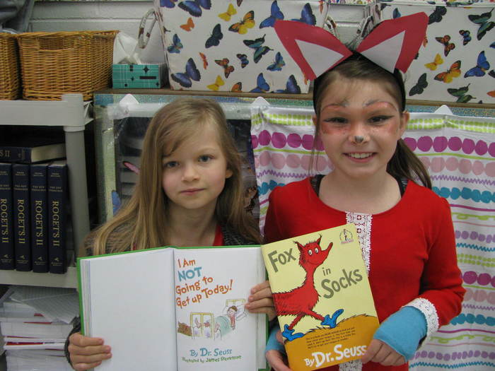 Third Grade Students Dressed up as Dr. Seuss Characters