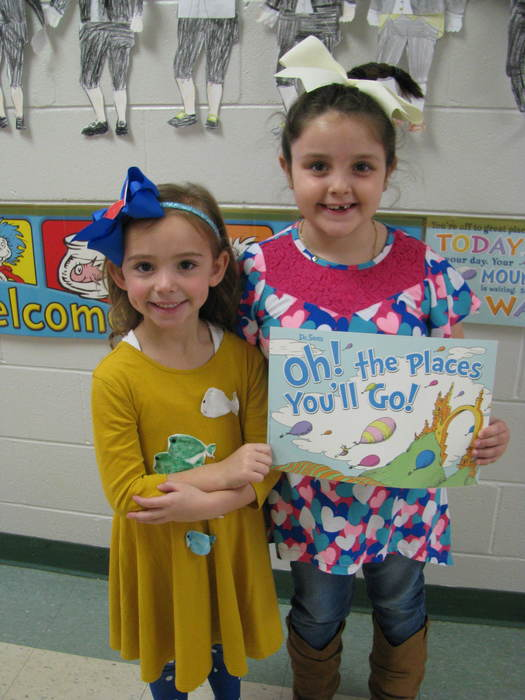 First Grade Students Dressed up for Seuss Yourself Day