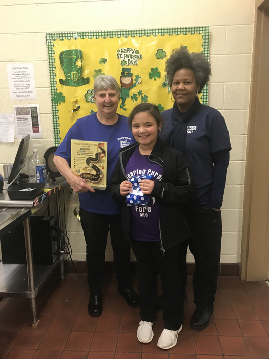 Wednesday's Breakfast winner, Alexia Makala Quarles.