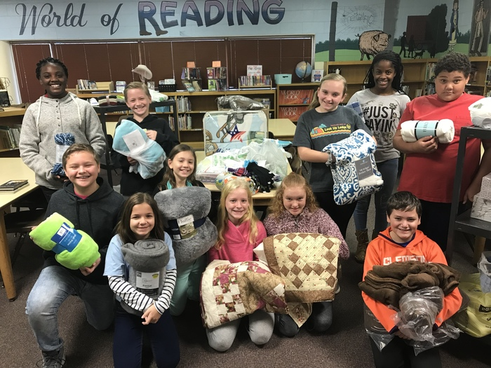 WWES FCA students collected items for seniors