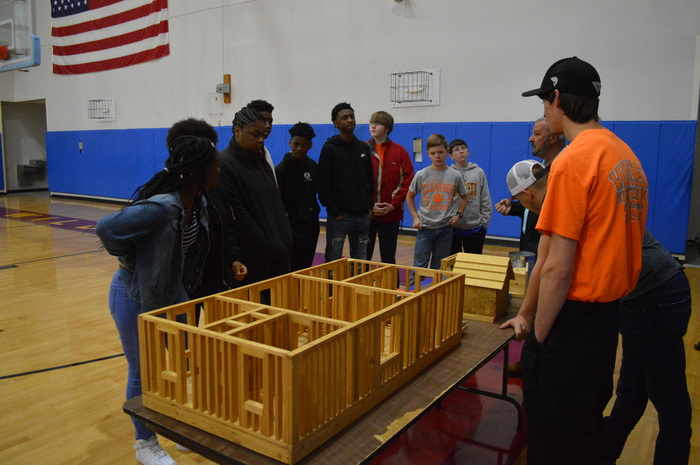 Career Center presents to WMS students about carpentry