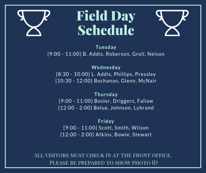 Field Day Schedule Infographic