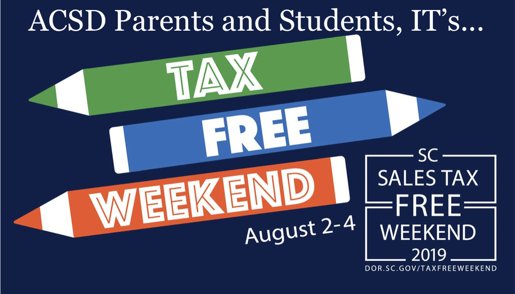 tax free weekend flyer