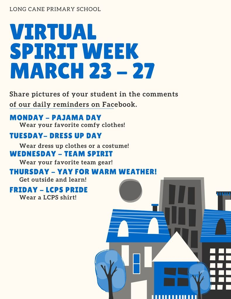 virtual spirit week flyer