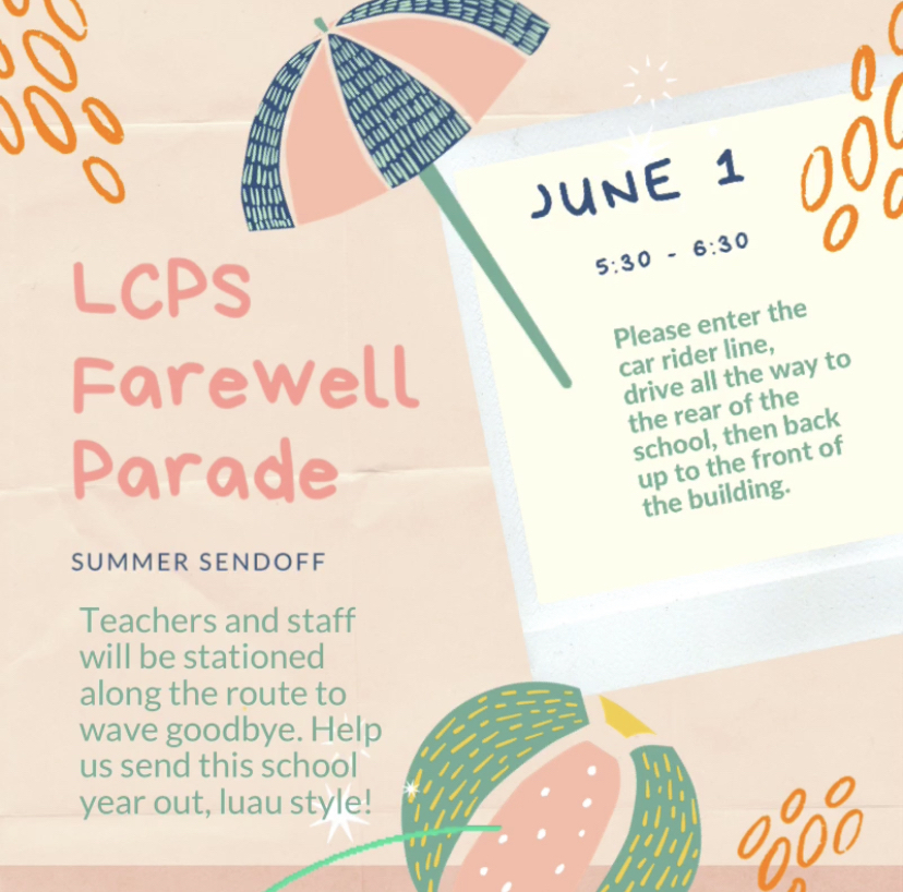 Farewell parade flyer