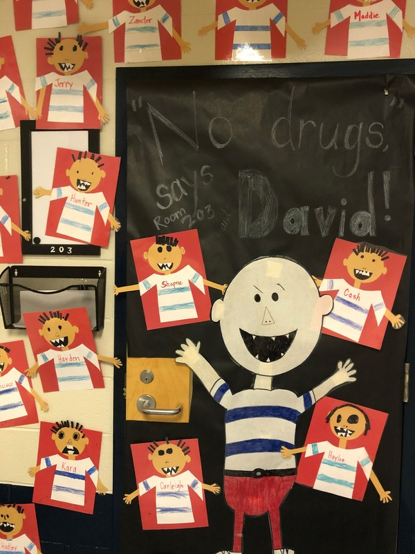 Mrs. Godwin's Class Wins Red Ribbon Door Contest